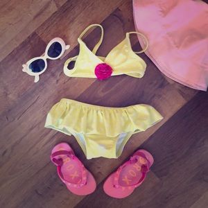Circo Yellow Polka Dot Bikini